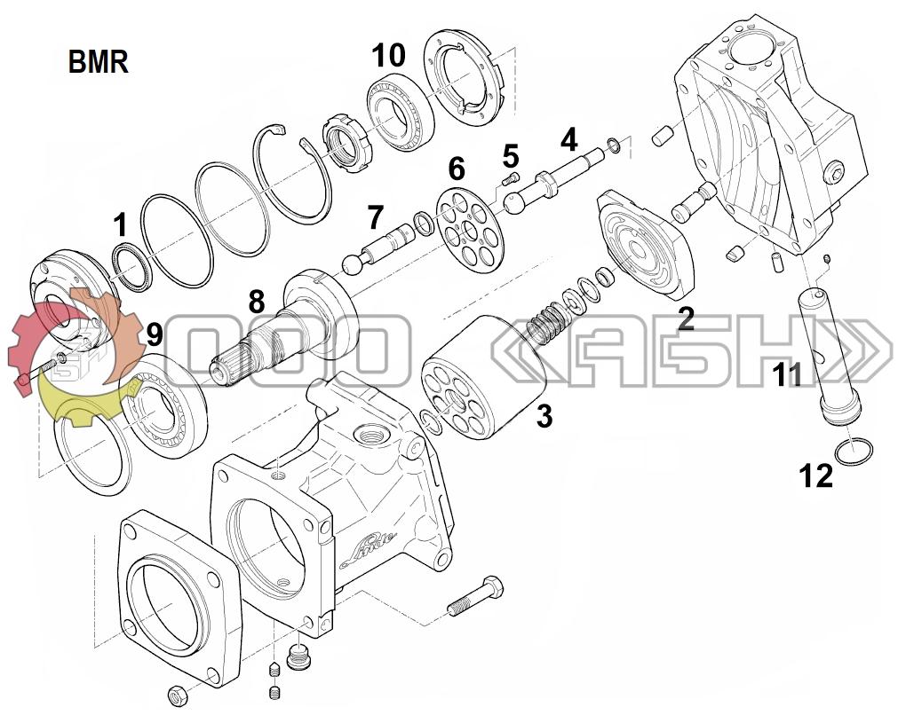 Запчасти для гидромотора Linde BMR135-01