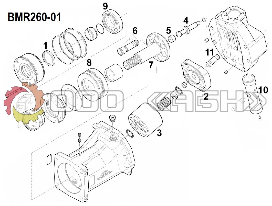 Запчасти для гидромотора Linde BMR260-01