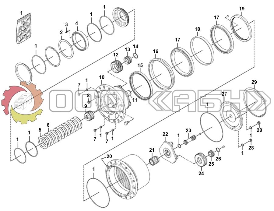 Запчасти для гидромотора Bosch Rexroth GFT26