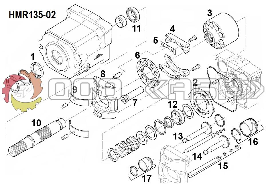 Запчасти для гидромотора Linde HMR135-02