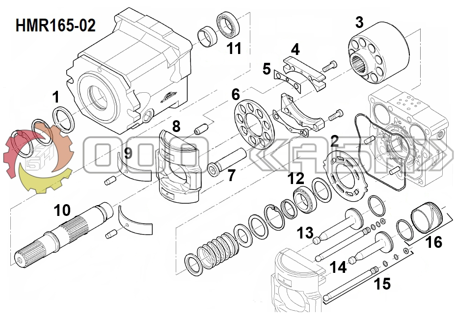 Запчасти для гидромотора Linde HMR165-02