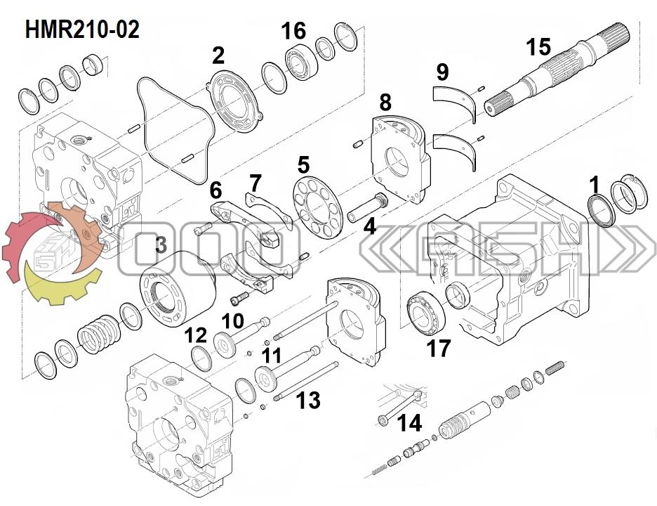 Запчасти для гидромотора Linde HMR210-01