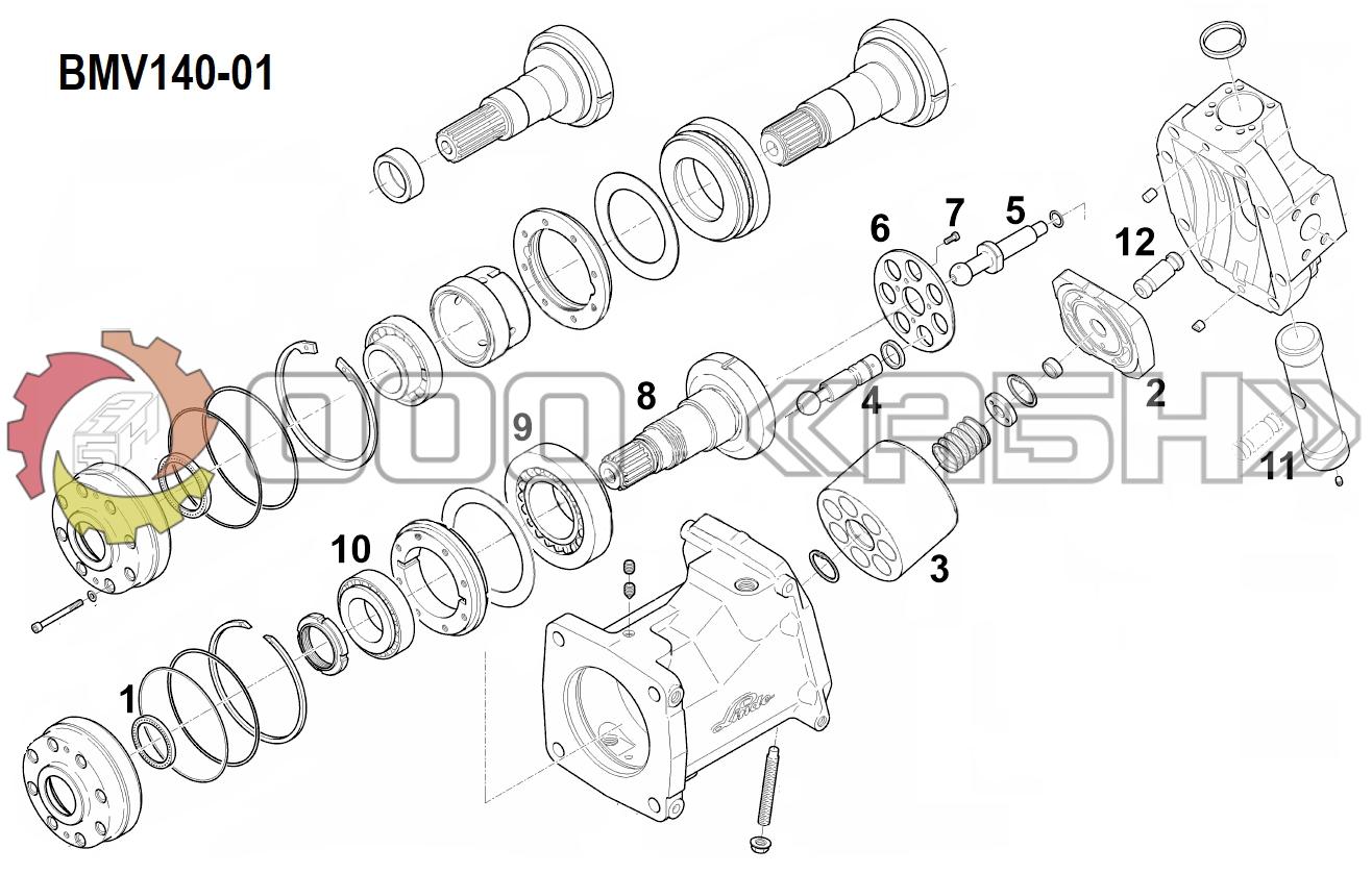 Запчасти для гидромотора Linde BMV140-01
