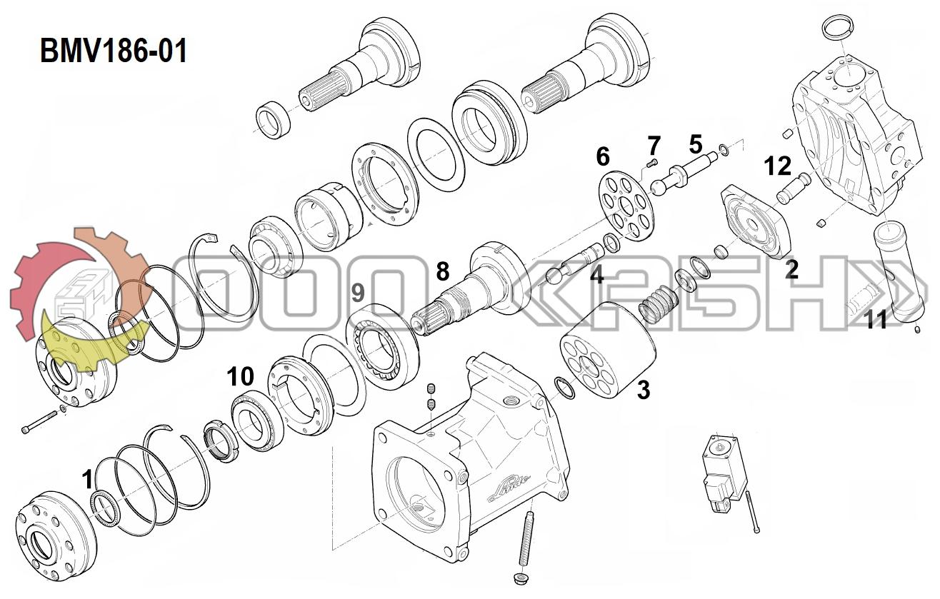 Запчасти для гидромотора Linde BMV186-01