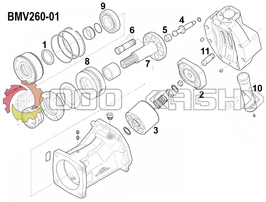 Запчасти для гидромотора Linde BMV260-01